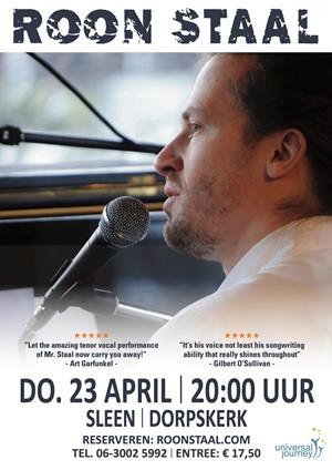 Roon Staal met bekend werk op lente tour