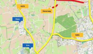 N381, maar ook de Slenerweg, afgesloten