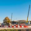 Plaatsing viaduct bij Knooppunt Emmen-West