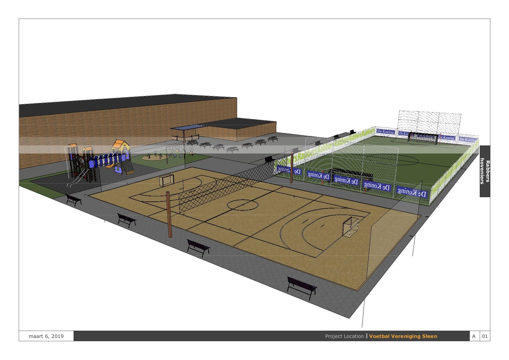 Aanzicht Sport- en speelveld VV Sleen