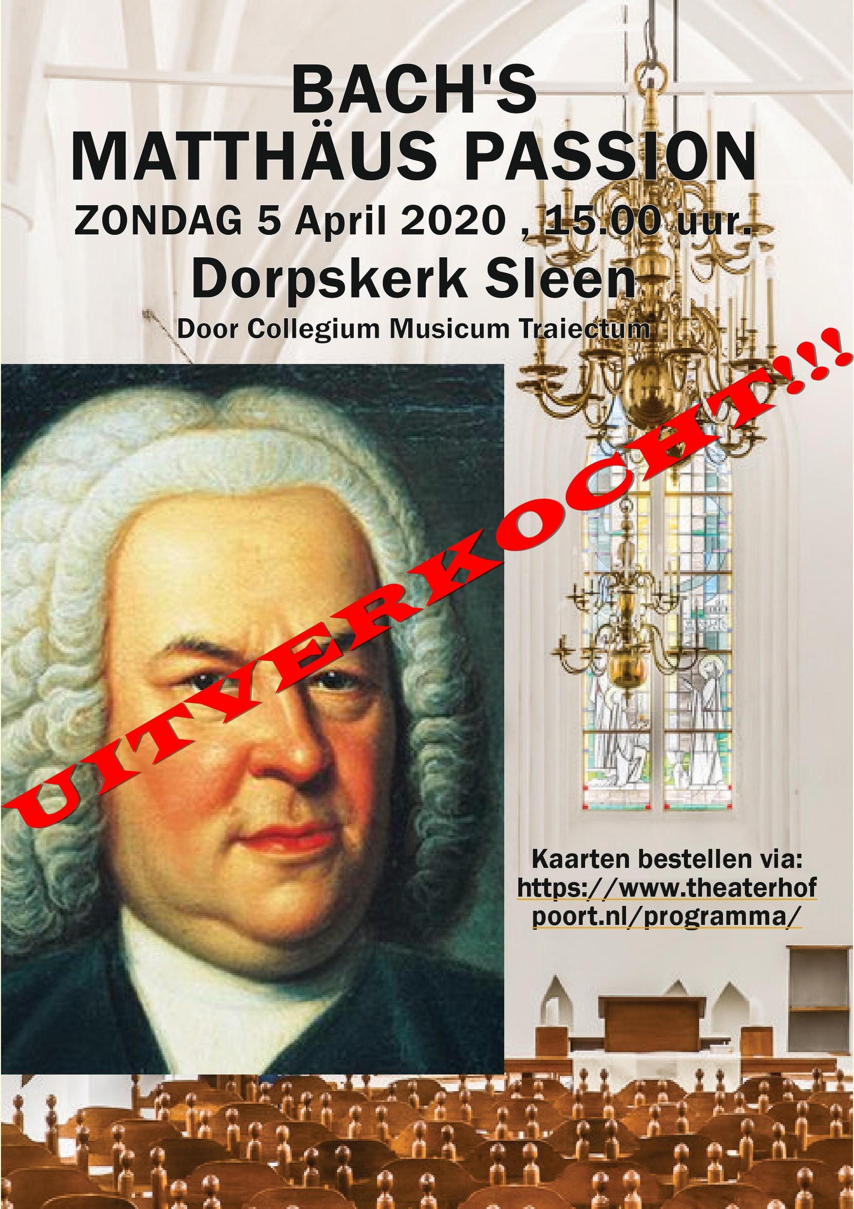 Matthaus Passion 5 april